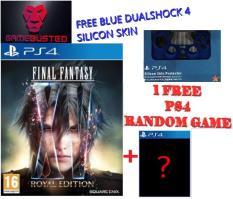 PS4 FINAL FANTASY XV ROYAL EDITION (R2) + 1 FREE RANDOM PS4 GAME + Blue DualShock 4 Silicon skin