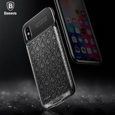 Baseus Plaid Backpack Power Bank Case 3500MAH For iPhoneX Black