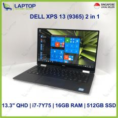 DELL XPS 13 (9365) 2 in 1 Touch Sreen (i7-7/16GB/512GB) @Thin & Light Original Warranty@ Preowned [Refurbished]