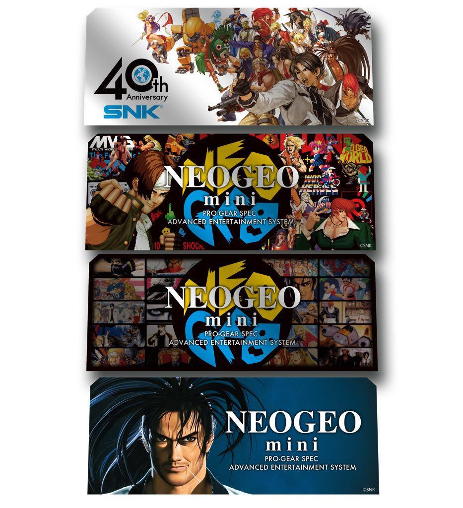 NEOGEO mini 40th Anniversary Sticker