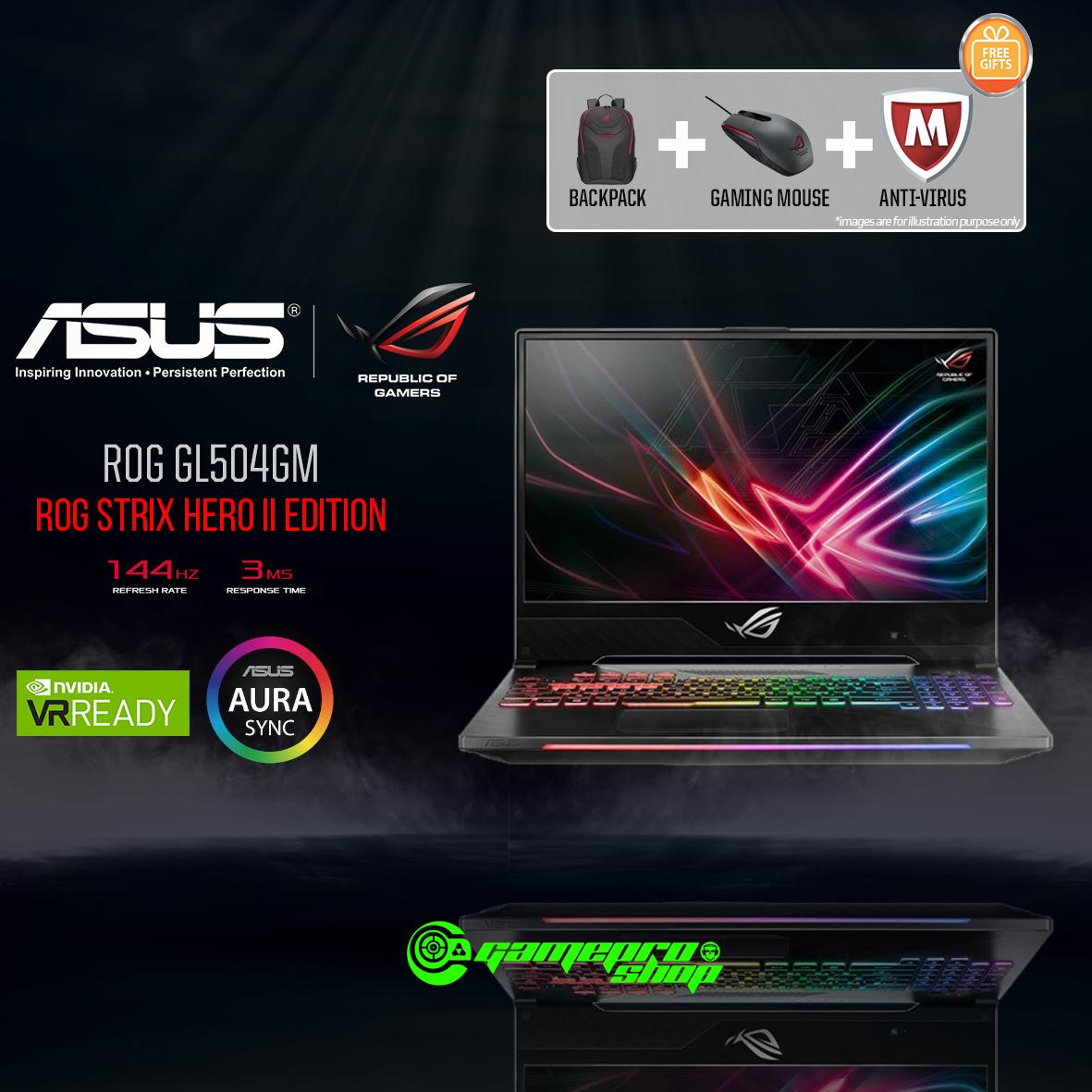 8th Gen ASUS ROG Strix Hero II GL504GM -ES052T (8th-Gen/128GB SSD/GTX 1060 6GB GDDR5) 15.6