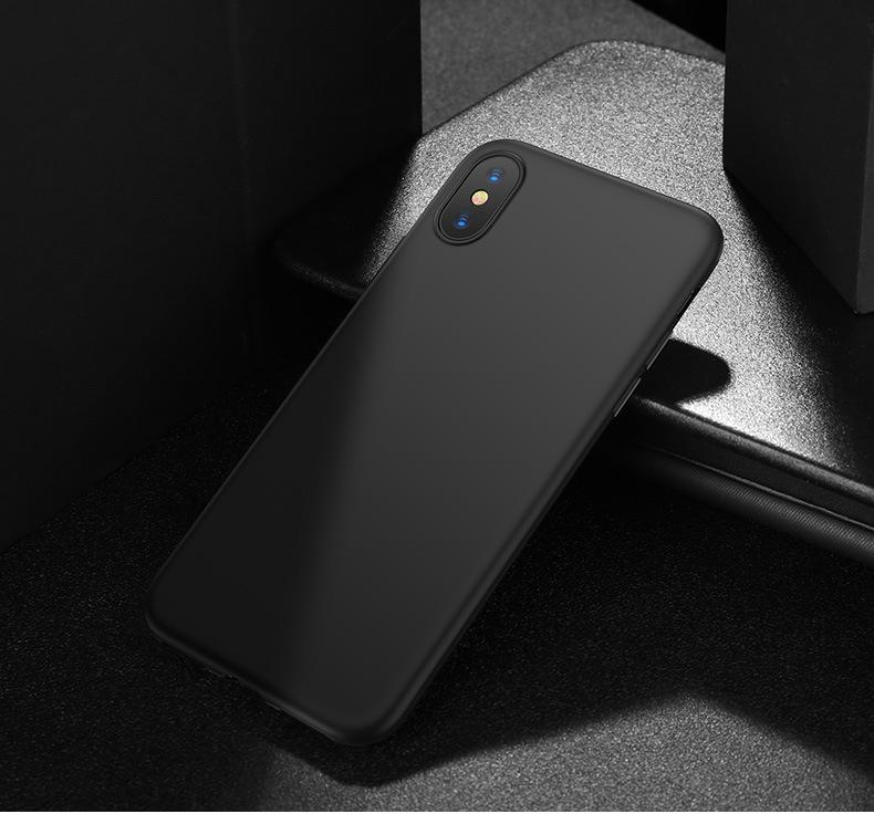 (Black) Ultra Slim Matte Precise Fit Matte Case Casing Cover for iPhone XS Max