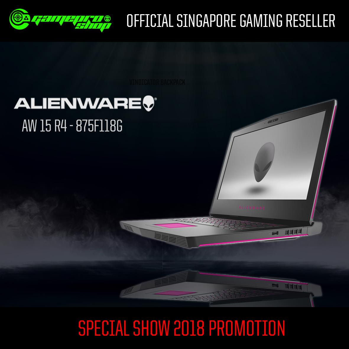 Alienware AW15 R4 -875F118G-W10-1070 ( i7-8750H/ 16GB/ 256GB SSD +1TB/ NVIDIA GTX 1070/ 15.6″ FHD/ Win10/2 year Premium Support) with 120Hz *10.10 PROMO*