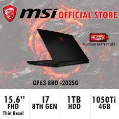 MSI GF63 8RD -202SG (I7-8750H / 8GB / 128GB SSD / GTX1050Ti) GAMING LAPTOP