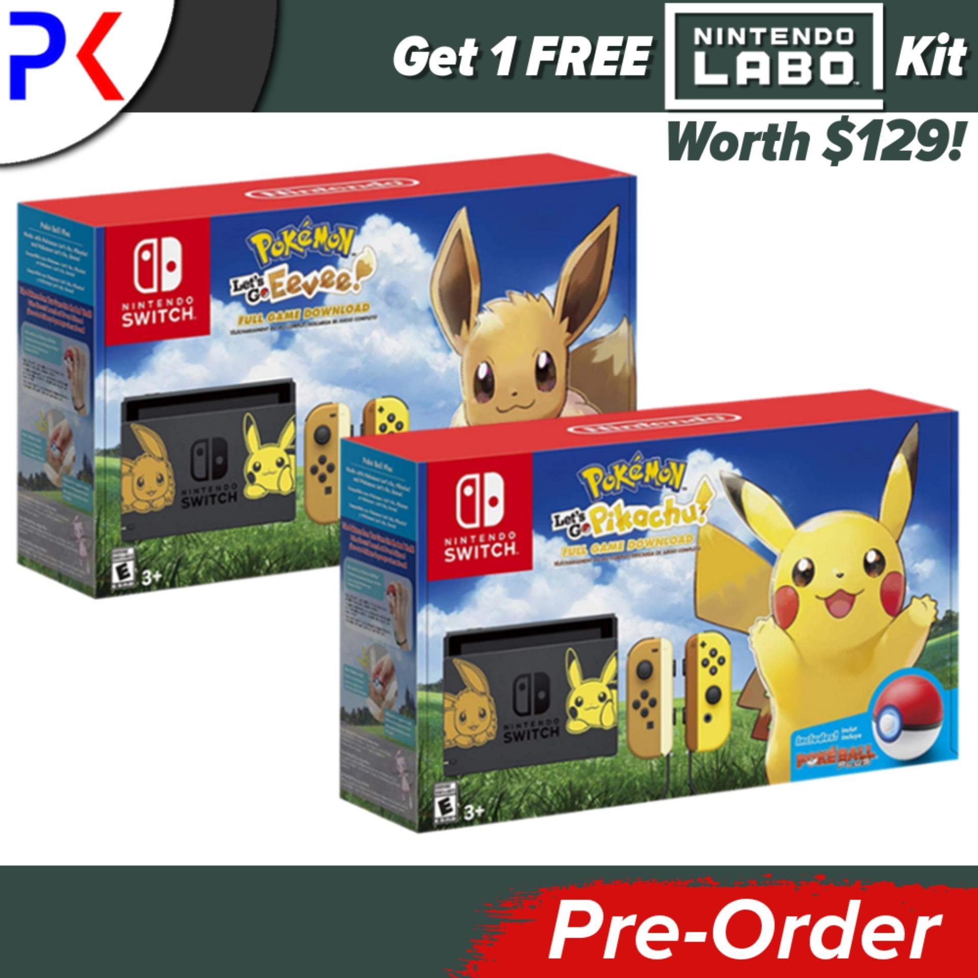 [Pre-Order] Nintendo Switch Console Pokemon Lets Go Edition [ASIA] + Free Labo Kit (Ships earliest 16 November)