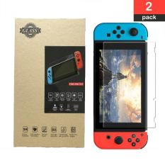 (2 Pack) Screen Protector for Switch, Tempered Glass Screen Protector + HD PET Screen Protector for Nintendo Switch HD Protective Film Anti Scratch 0.26mm/9H Hardness