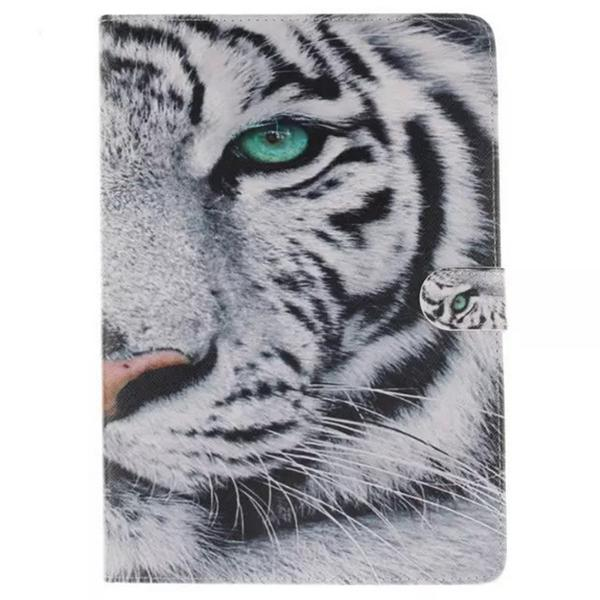 White Tiger Design PU Leather Case for Samsung Galaxy Tab S T800