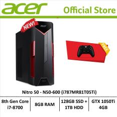 Acer Nitro 50 N50-600 (i787MR81T05Ti) Gaming Desktop – Free Xbox Wireless Controller