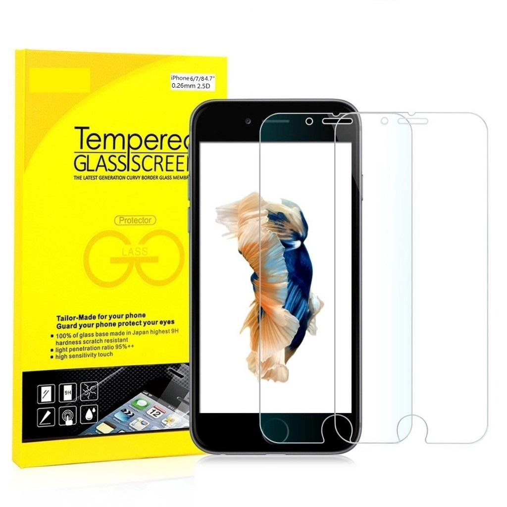 iPhone Tempered Glass Screen Protector For iphone 6/7/8,iphone 7plus/8plus/Xs/Xs Max/Xr