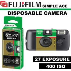 FUJIFILM 35mm Disposable Single Use Camera Simple Ace – ISO 400 – 27 Exposure