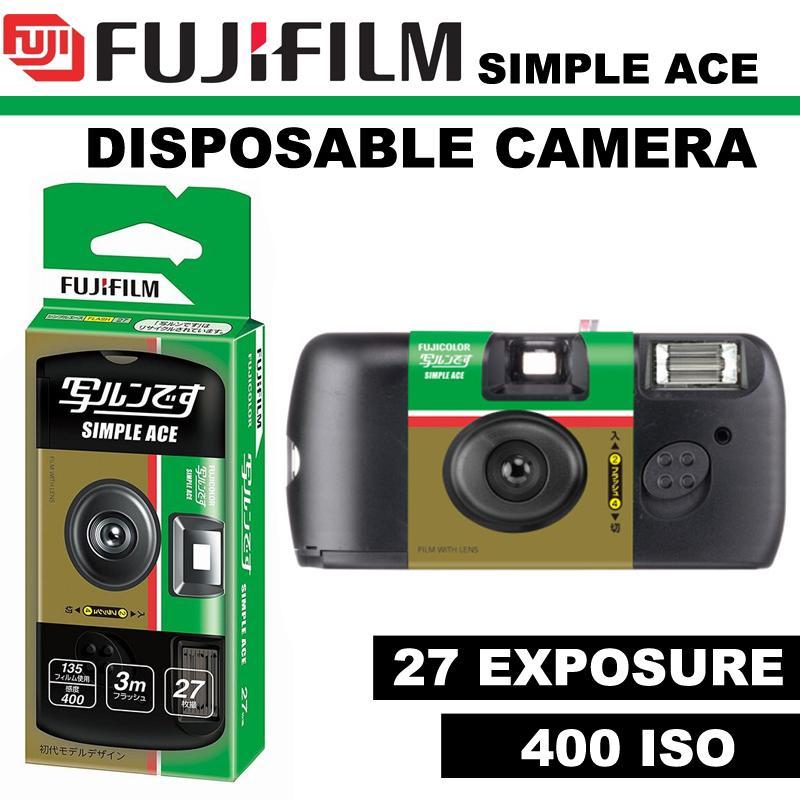FUJIFILM 35mm Disposable Single Use Camera Simple Ace – ISO 400 – 27 Exposure