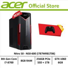 Acer Nitro 50 N50-600 (i787MR81T06) Gaming Desktop – Free Xbox Wireless Controller
