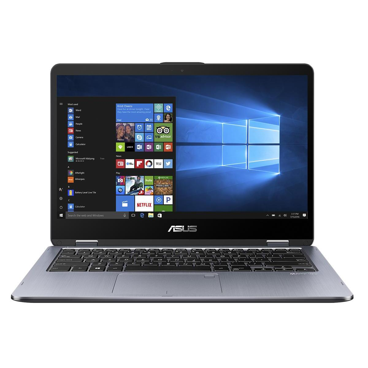 "ASUS Vivobook Flip Tp410Ua-Ec474T (14"" FHD IPS,Intel Core i7-8550U,8GB,Intel HD Graphics 620,128GB SSD + 1TB HDD)"