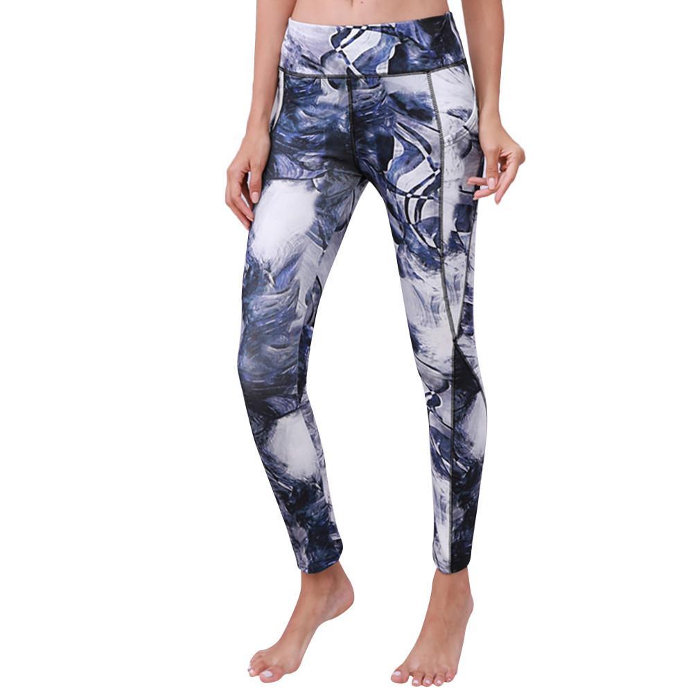 Hayleystore Pengiriman Gratis Wanita Yoga Legging Kebugaran Berlari Gym Peregangan Celana Panjang Olahraga