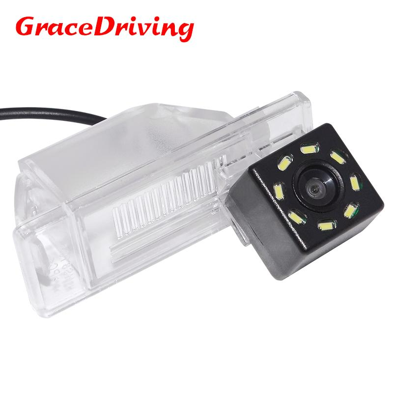 Car CCD 8LED Reverse Parking Rear View Camera For Nissan Note 2005-/Juke 2010-/Qashqai 2006-/X-Trail/Pathfinder 2004-14/Patrol - intl
