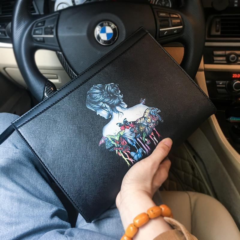 Ban Đầu Kiểu Hàn Quốc Xu Hướng Túi Cầm Tay Thanh Niên Túi Nhỏ Thời Trang Mạ Ví Treo Cổ Tay Túi Xách Tay Túi Đựng iPad Thẻ Đa Năng