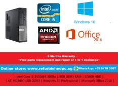 *Refurbished* Dell Optiplex 3010 SFF | Intel Core i5-3550@3.30GHz | 8GB DDR3 RAM | 500GB HDD | ATI HD8490 1GB DDR3 | Windows 10 Professional | Microsoft Office 2016 | 6 Months Warranty |