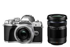 Olympus OM-D E-M10 Mark III Mirrorless Micro 4/3 Digital Camera with 14-42mm and 40-150mm Lenses (silver)