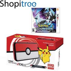 New 2DS XL Console Pokeball Edition + 3DS Pokemon Ultra Moon