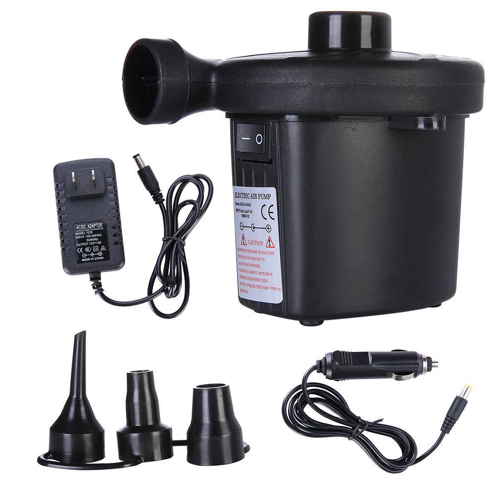 Electric Air Pump Portable Inflator Deflator Air Mattress Pump For Car Household