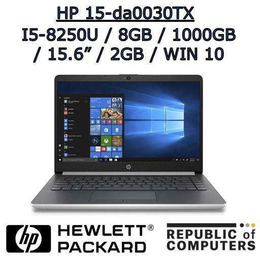 HP 15-da0030TX i5-8250U / 8GB / 1TB HDD / 2GB NVIDIA GRAPHICS / 15.6″ / WINDOW 10