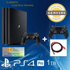 PS4 Pro 1TB with 15 Month Local Warranty and 1 Extra Dualshock 4 Controller with 3m micro USB High speed compatible cable