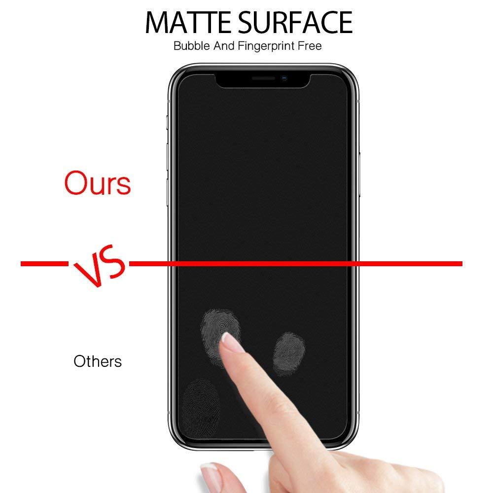 Matte Anti-Glare Tempered Glass Screen Protector Apple iPhone XS / X - [Case-Friendly] - 9H Toughness - Excellent Sensitivity -...
