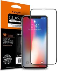 Spigen iPhone XS Max / XS / X Tempered Glass Screen Protector Full Coverage