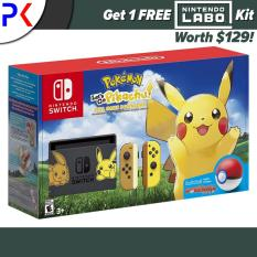 Nintendo Switch Console Pokemon Lets Go Pikachu Edition + Free Labo Kit (ASIA)