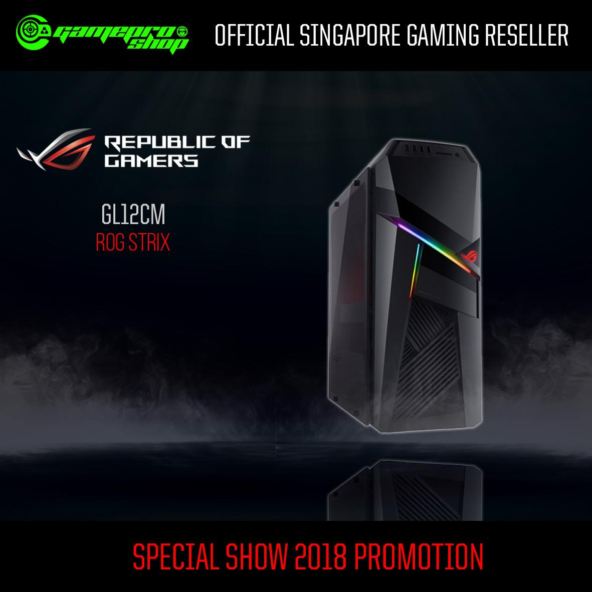 8th Gen ASUS ROG Strix GL12CM – SG010T (I7-8700 16GB 1TB+256GB SSD GTX1060) *END OF MONTH PROMO*