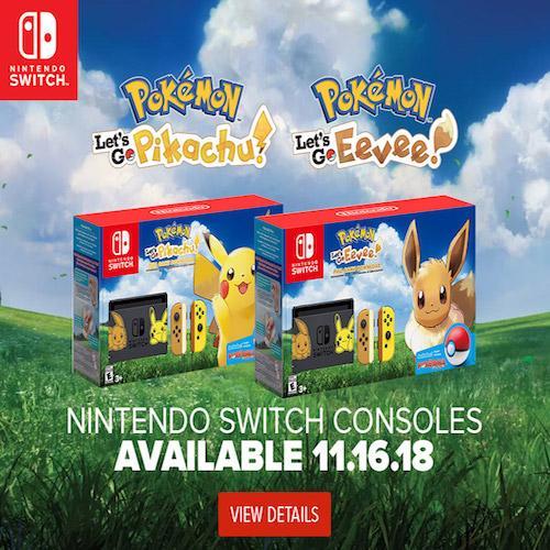 Pre-Order!!!Nintendo Switch Let's go Go! Pikachu Console Bundle (Ship earliest 16 Nov 2018)