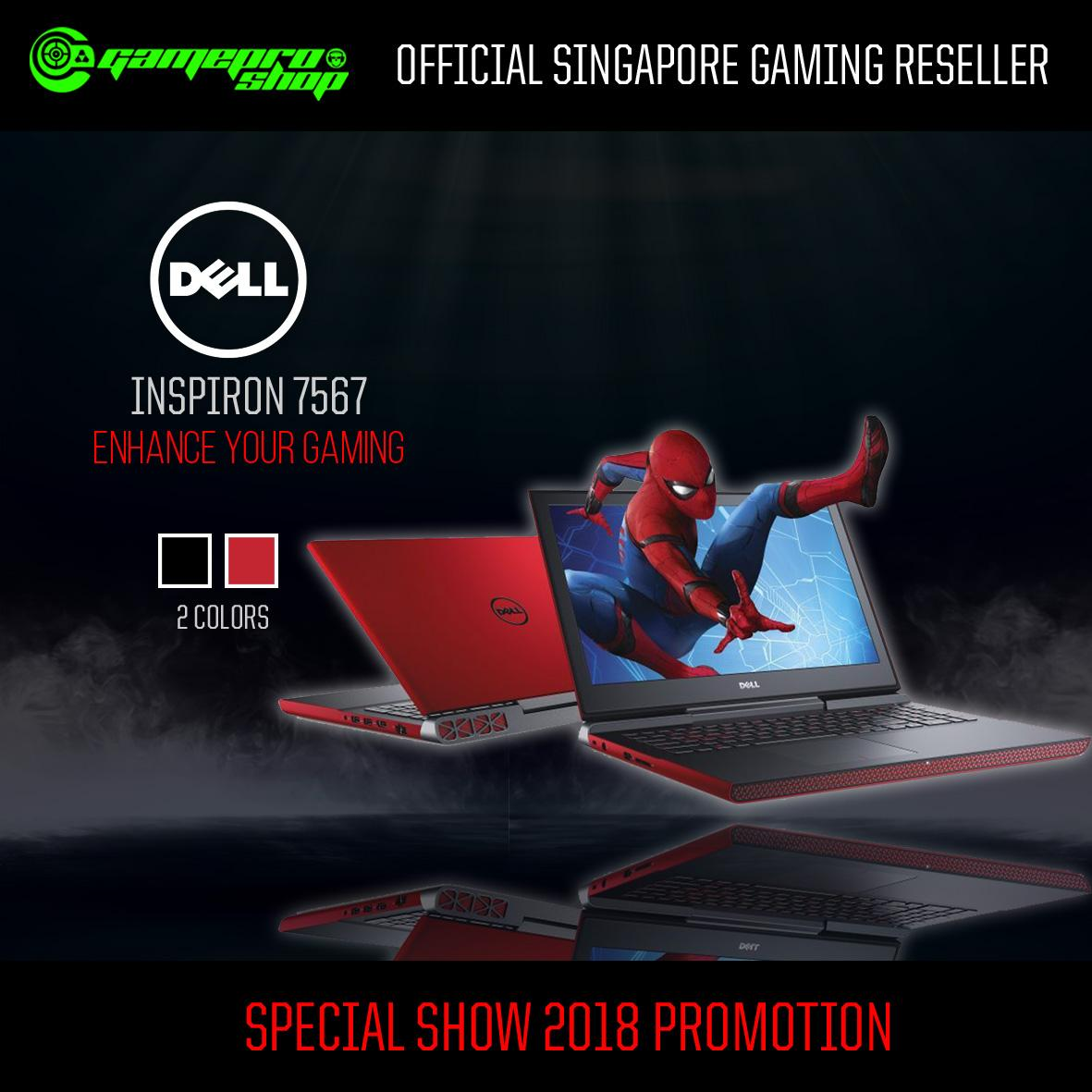 DELL 7567 Inspiron 15 7000 Gaming Laptop (RED) – i7-7700HQ,GTX1050TI 4GB,WIN10 *11.11 PROMO*