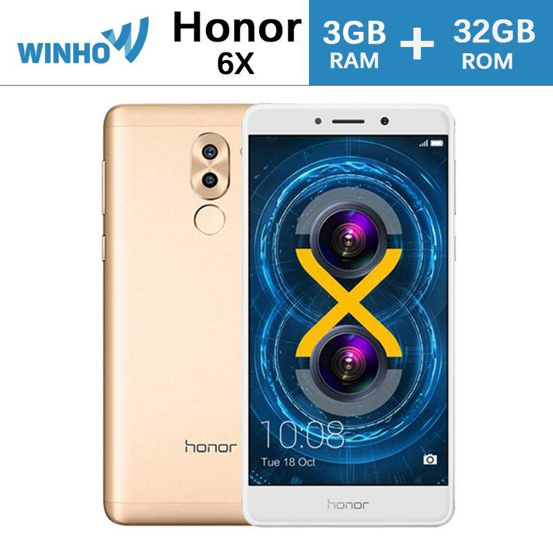 HUAWEI Honor 6X 5.5 inch FHD 3GB+32GB Octa Core 12.0MP+2.0MP Dual Rear Cameras