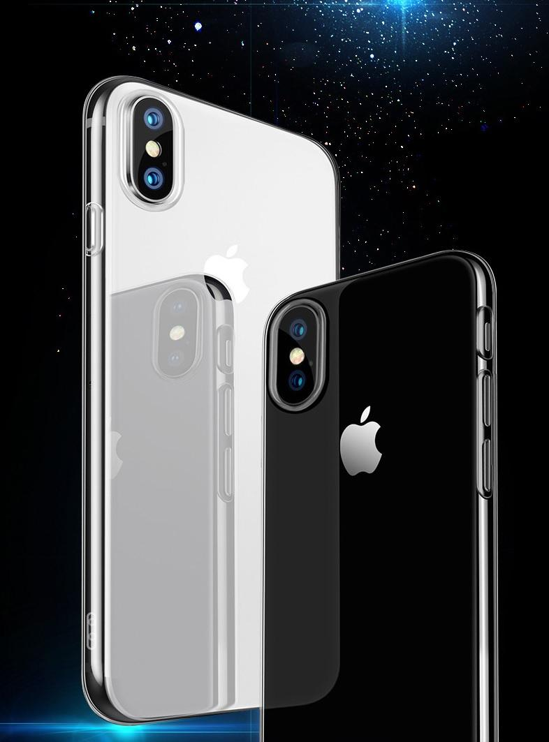 iPhone XS Max Transparent Crystal Clear TPU Case Casing Cover