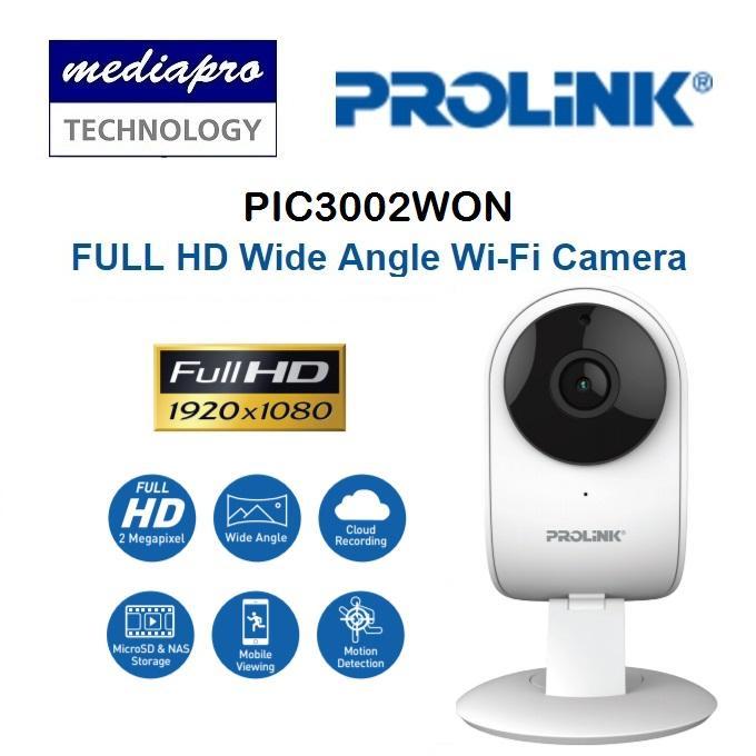 PROLINK PIC3002WN Smart Full HD 1080p Wide Angle Wireless IP Camera