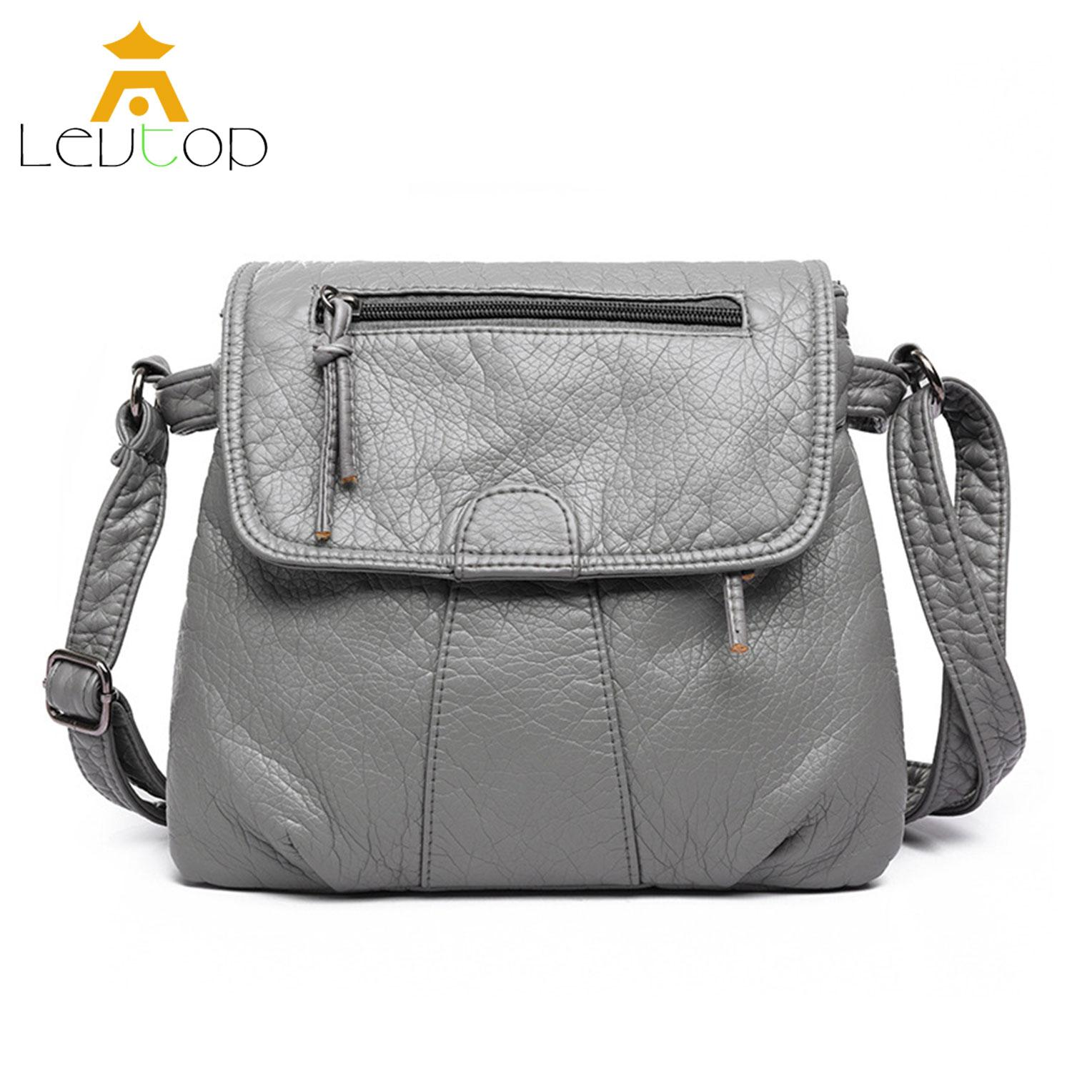 LEVTOP Sling Bag Handbags Women Crossbody Shoulder Bags Soft PU Leather Messenger Cross Body Bags