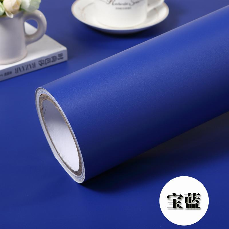 Thick Solid Color Wallpaper Plain Color Self-Adhesive Candy-Colored LOFTEX Boeing Film Furniture Refurbishing Sticker Dull Polish Waterproof Adhesive Paper