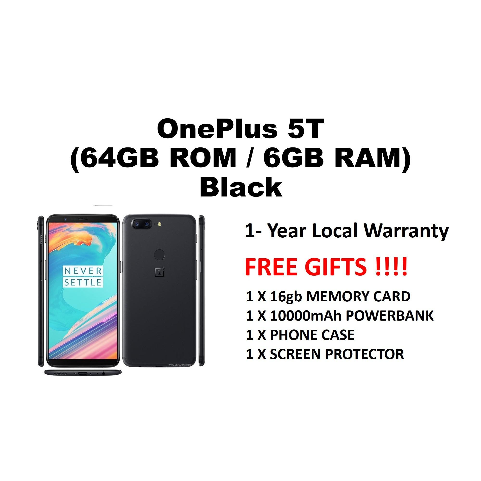 OnePlus 5T Black LOCAL SET 1 YEAR WARRANTY