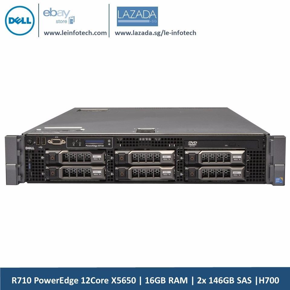 Dell PowerEdge R710 Virtualization Server Xeon 12Core X5650 16GB 2x146GB H700