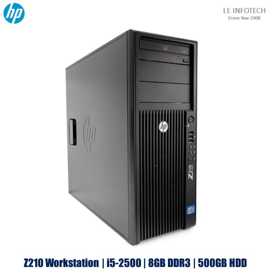 HP Z210 Workstation AMD ATI Radeon R7 250 2GB Intel Xeon Quad Core i5-2500 #3.3Ghz 8GB DDR3 500GB SATA HDD Windows 10 Pro One Month Warranty