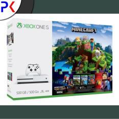 Xbox One S 500GB (ASIA) Minecraft Complete Adventure Bundle