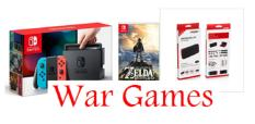Switch Standard Bundle (Neon/Grey) (Game:The Legend of Zelda: Breath of the Wild/Tempered Glass /Case)