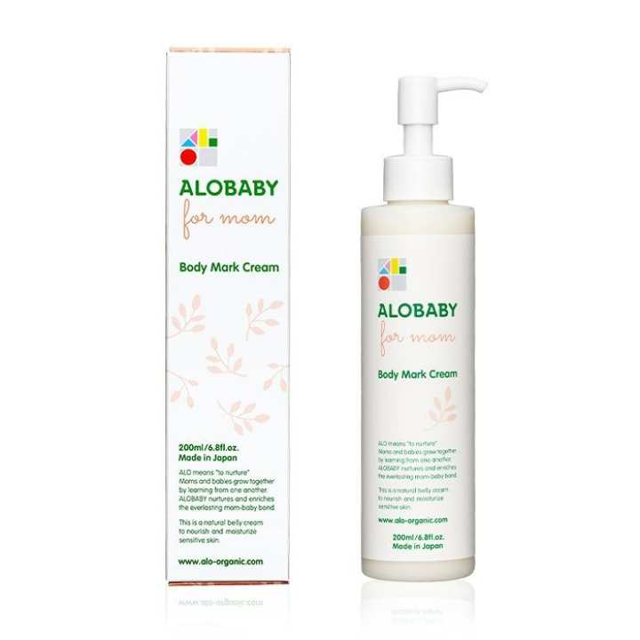 ALOBABY for MOM【Official】Body Mark Cream 200ml [Made-in-Japan/Organic/Stretch Marks/Moisturizing /Mother/Pregnant]