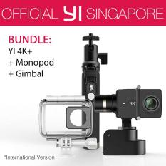 YI 4K+ Action Camera Bundle with YI Gimbal and Monopod