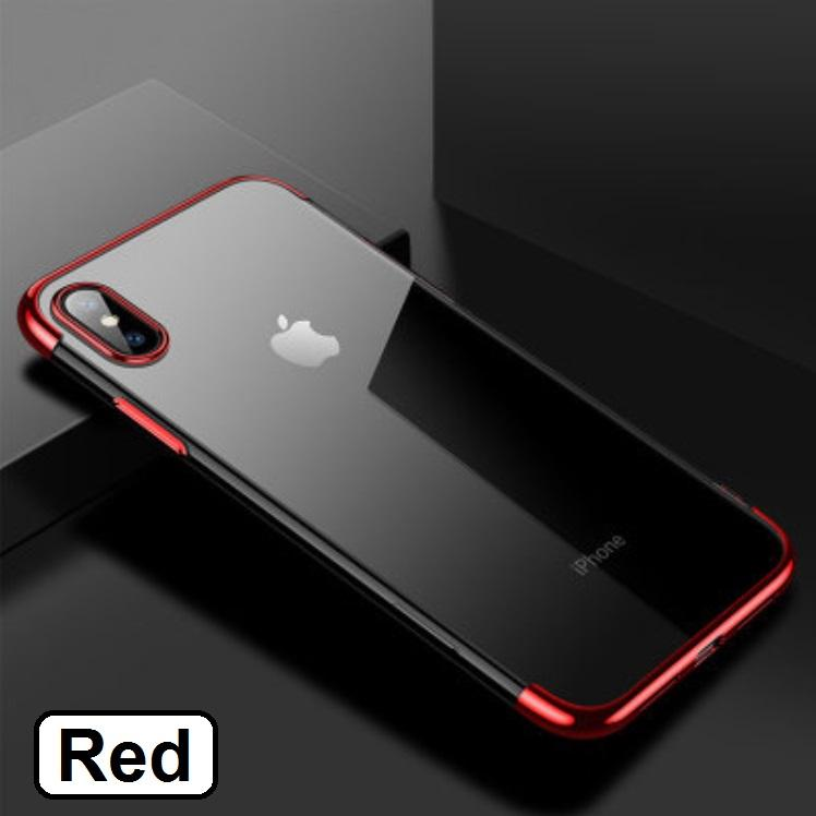 Ultra Slim Shell Plated Border Case Casing Cover for iPhone XS Max