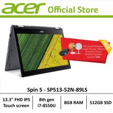 Acer Spin 5 SP513-52N-89LS Convertible Laptop – free astone speaker and microsoft wireless mouse