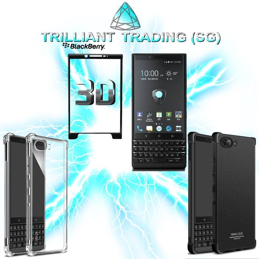 Blackberry Key2 Imak Shock Resistant Case and Screen Protector Bundle