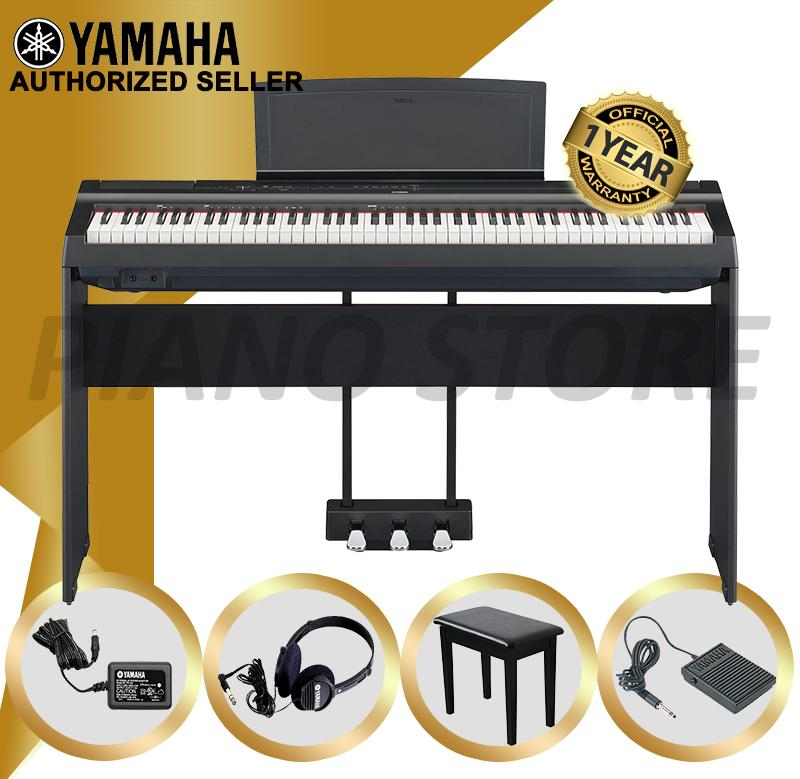 Authorized Seller - Yamaha P-125 Digital Piano (Black) - P125 with Piano  Stand & Bench Yamaha P 125 Series