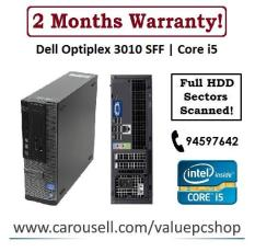 Core i5 Gen3: Dell Optiplex 3010 SFF / 4GB RAM/ 500GB HDD (Refurbished Desktop CPU)