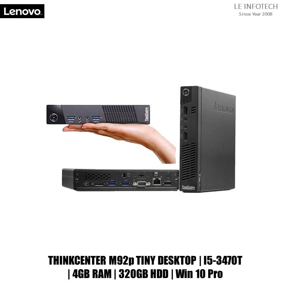 Lenovo ThinkCentre M92p Tiny desktop Core i5-3470T @2.9Ghz 4GB 320GB HDD Win 10 Pro Used one month warranty